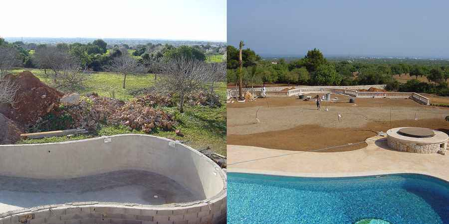 Finished Project New Construction Mallorca Finca with pool
