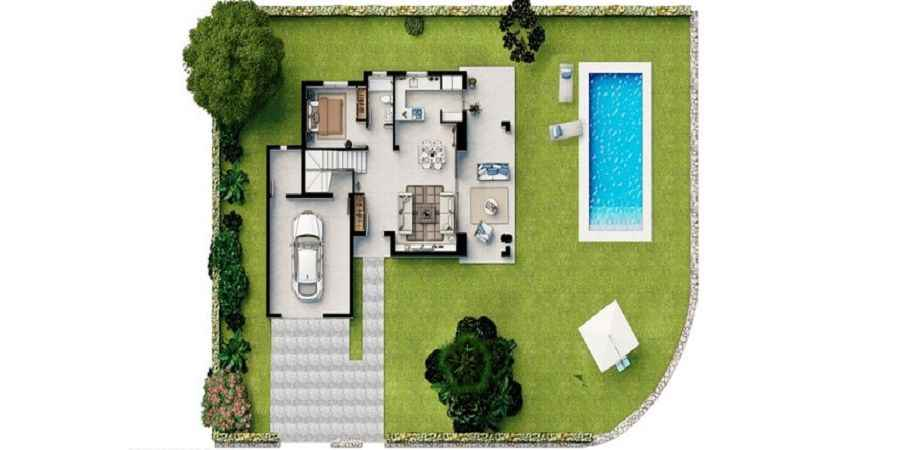 Newly build villas in Sa Rapita close to Es Trenc beach prices from
