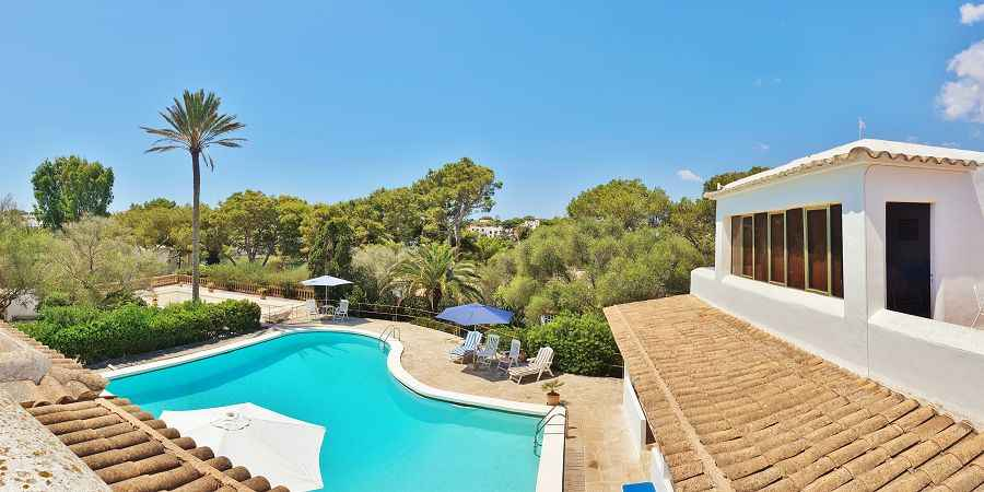 Cala Dor old town villa with two pools and marina views