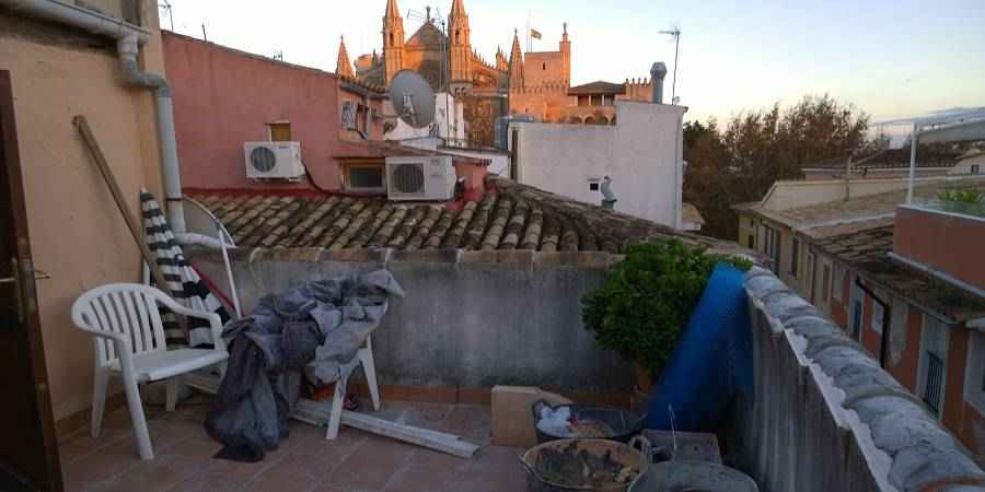 Renovated, two bedroom apartment in La Lonja Palma for sale.