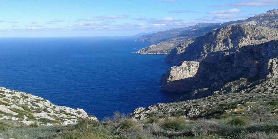 Secluded front line plot on the west coast of Mallorca
