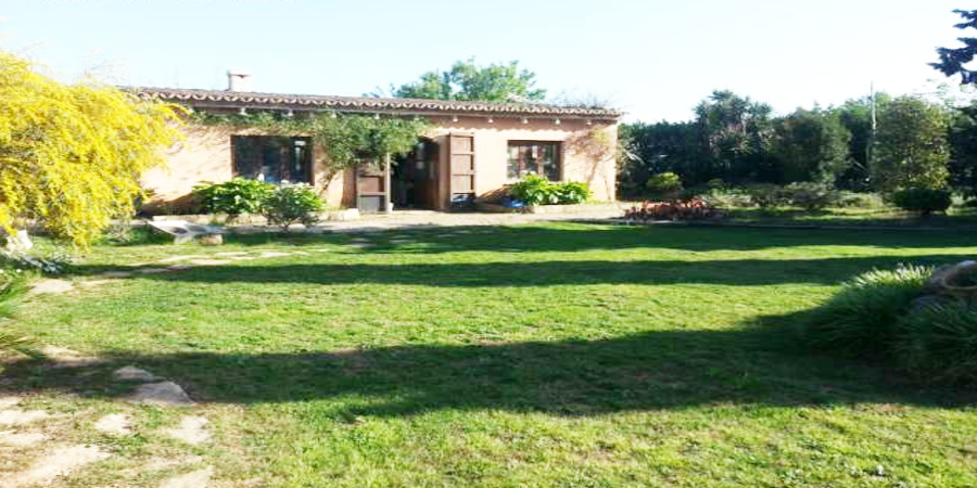 Finca Country home with spectacular view over mountains and vinyards, in Biniali