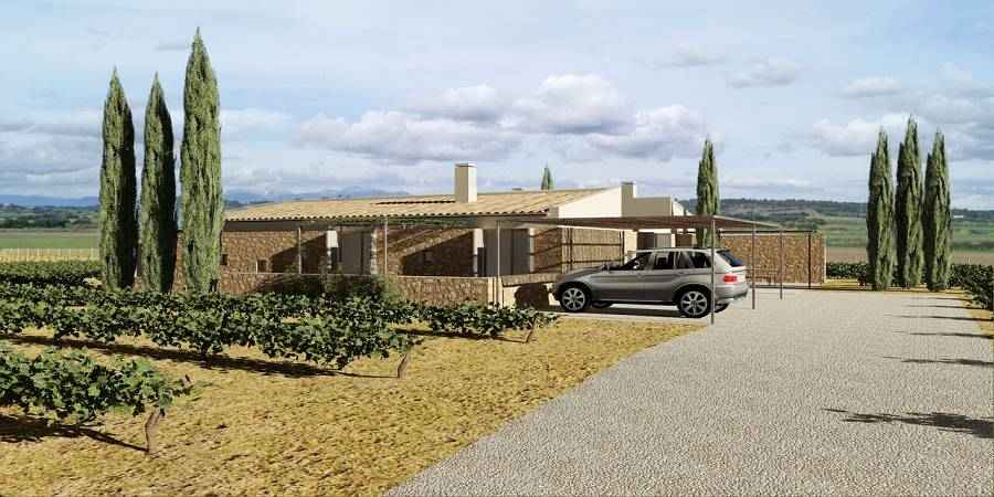 Plot of land with project for house with pool  by Sineu, Mallorca