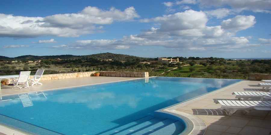 Outstanding luxury country home finca with fabulous sea and country views in Es Carritxo