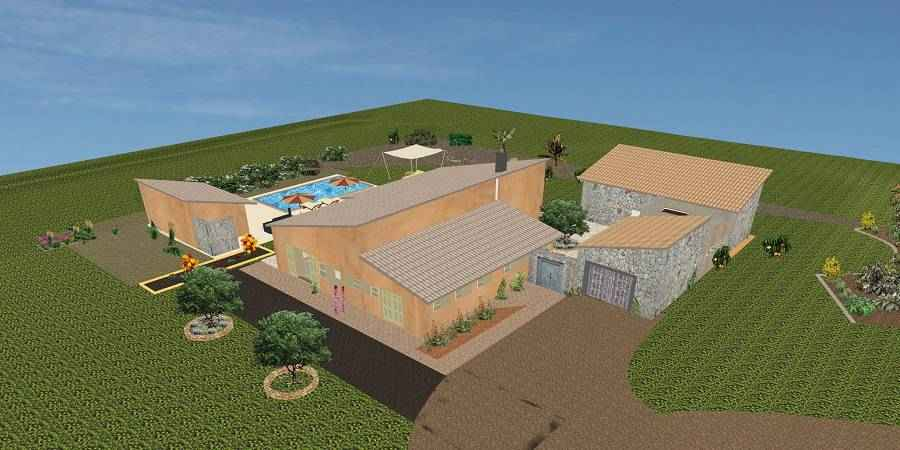 Beautiful rustic plot on the outskirts of Santanyi with basic project